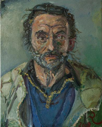 Monsieur Guiot, 40cm x 50cm, Öl auf Leinwand, 2009