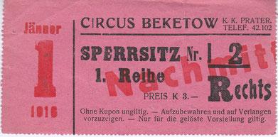 Circus Beketow 1916