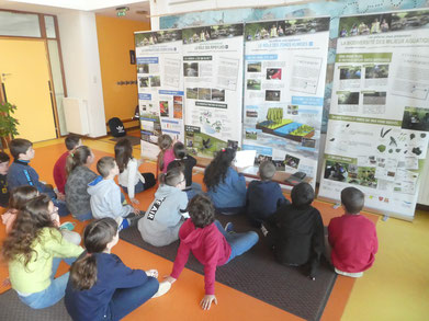 L'expo comprendre nos rivières créée avec les enfants