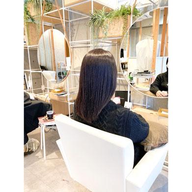 横浜 元町 石川町 美容室 ヘアサロン 縮毛矯正 ロングヘア 髪質改善 艶さら
