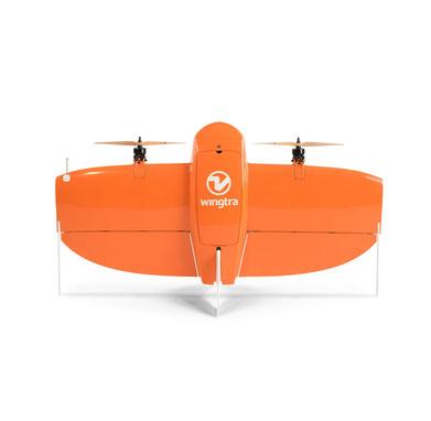 WingtraOne es un dron VTOL para fotogrametría o percepción remota, de largo alcance hasta 50 km y 55 minutos de vuelo