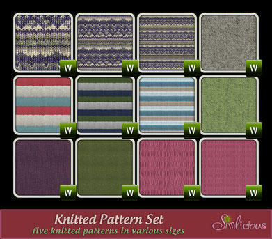 Knitted Pattern Set