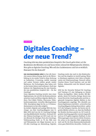 Digitales Coaching - der neue Trend?