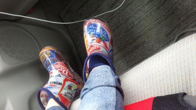 長靴を履いている写真