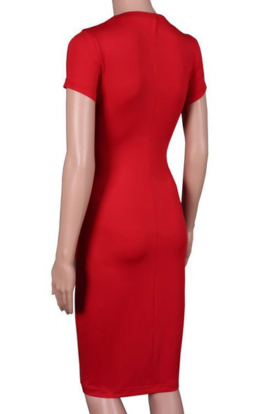 RED SHORT SLEEVE MATERNITY DRESS