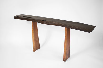 C1145 · Bog Oak, Europ.Walnut #bench#stool#console#sculpture#bowl#coffeetable#woodworking#interiordesign#woodsculptures#art#woodart#wooddesign#decorativewood#originalartwork#modernwoodsculpture#joergpietschmann#oldwood
