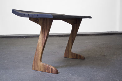 C1269 · Bog Oak, Curupay#Desk#bench#stool#console#sculpture##woodworking#interiordesign#woodsculptures#art#woodart#wooddesign#decorativewood#originalartwork#modernwoodsculpture#joergpietschmann#oldwood