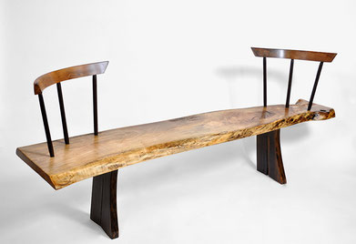 B1054 · Walnut, Bog Oak, Oak #bench#stool#console#sculpture#bowl#coffeetable#woodworking#interiordesign#woodsculptures#art#woodart#wooddesign#decorativewood#originalartwork#modernwoodsculpture#joergpietschmann#oldwood