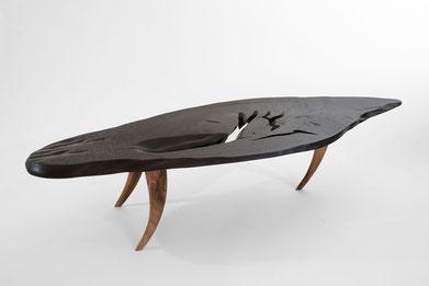 T1093 · Bog Oak, European Walnut#arttabletable#coffeeetable#sculpture#bowl#coffeetable#woodworking#interiordesign#woodsculptures#art#woodart#wooddesign#decorativewood#originalartwork#modernwoodsculpture#joergpietschmann#oldwood