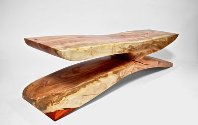 B1065 · Norway Maple, Padouk#bench#stool#console#sculpture#bowl#coffeetable#woodworking#interiordesign#woodsculptures#art#woodart#wooddesign#decorativewood#originalartwork#modernwoodsculpture#joergpietschmann#oldwood