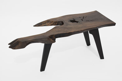 T1447 · Walnut, Bog Oak#arttable#table#coffeeetable#homedecoration#artcollector#sculpturel#coffeetable#woodworking#interiordesign#woodsculpture#art#woodart#wooddesign#decorativewood#originalartwork#modernwoodsculpture#joergpietschmann#oldwood