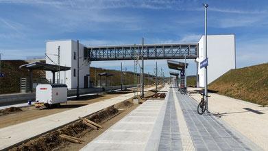 Merklingen Bahnhalt, die ersten Züge werden wohl erste 2022 hier halten...