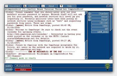 Eingeloggter IRC Client