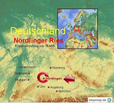 Das Nördlinger Ries zählt zu den am besten erforschten Einschlagskratern der Erde.
