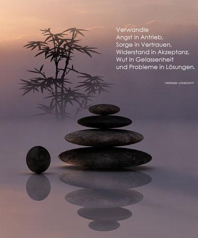 Steinsäule mit Bambus - Info´s zum Thema Resilienz