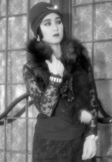 "A modern model recreating the look of a ""moga"" -  a stylish 'modern girl' of 1920s Tokyo."