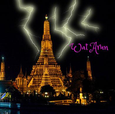 Wat Arun (Bangkok) im Blitzgewitter