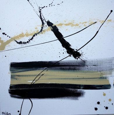 """""""poésie invisible """" - toile réalisée avec Benoit GUERIN - 80X80 - 2013"""