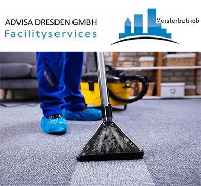 Grundreinigung Dresden bei einer Teppichreinigung Dresden.. Logo von ADVISA-Service Reinigungsfirma Dresden GmbH