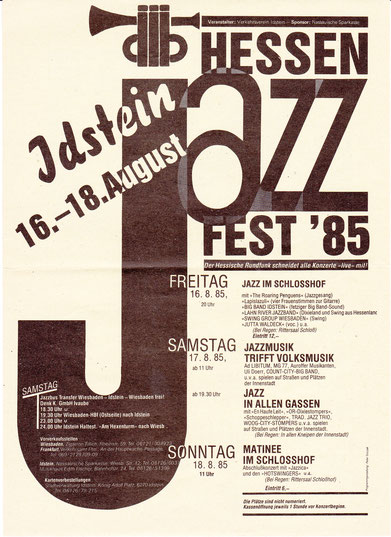 Flyer Idstein-Jazz 1985