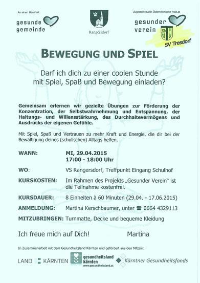 """Der SV-Tresdorf bewegt in der """"gesunden Gemeinde"""" und lädt zur Teilnahme"""