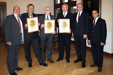 Hermann Weßlau, Alexander Kranki, Horst Ambaum, Klaus-Dieter Drechsler, OB Sören Link, MdB Mahmut Özdemir (Foto: H. Pischke)