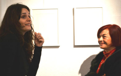 galeristin brigita zuberi (links) und rajka poljak franjević (rechts)