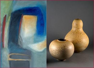Franziska Gloor - Bilder &   Mathies Schwarze - Keramik, Kunstausstellung 2015 in Frick
