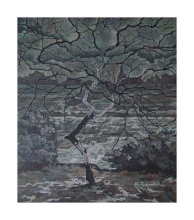 冬の木(アクリル絵の具/キャンバス)F10号