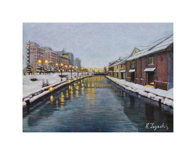 小樽運河(アクリル絵の具/キャンバス)F4号