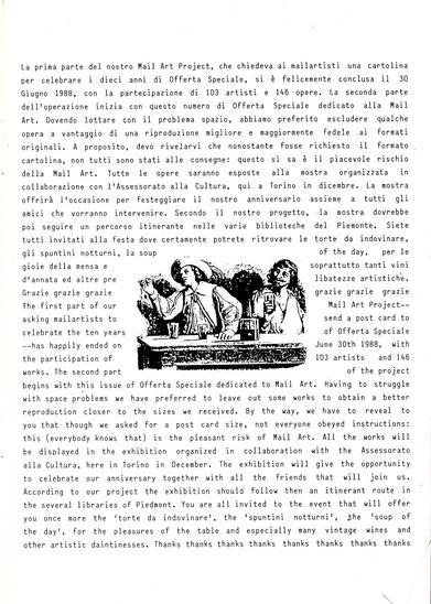 Editorial trilingue de la revue OFFERTA  SPECIALE Ocobre 1988