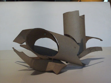 1989 sculpture abstraite en carton N° 2