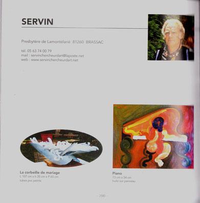 une des deux pages consqcrées à SERVIN