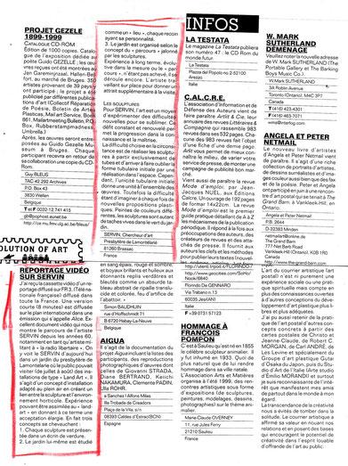 Article de la revue INTER signalant le  reportage  sur SERVIN par la TV nationale française