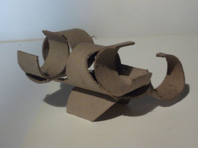 1989 sculpture abstraite en carton N° 4