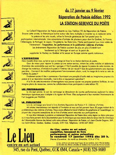 Document pour l'expo La Station Se(r)vice du Poète