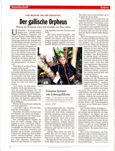 Article de Daniella SCHRÖDRE dans DER SPIEGEL
