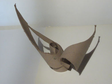 1989 sculpture abstraite en carton N° 7
