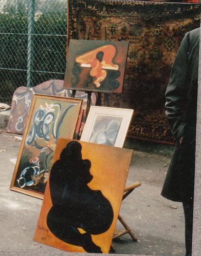 PARIS oeuvres de SERVIN sur les puces de Montreuil