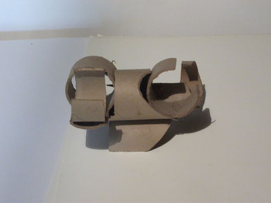 1989 sculpture abstraite en carton N° 3