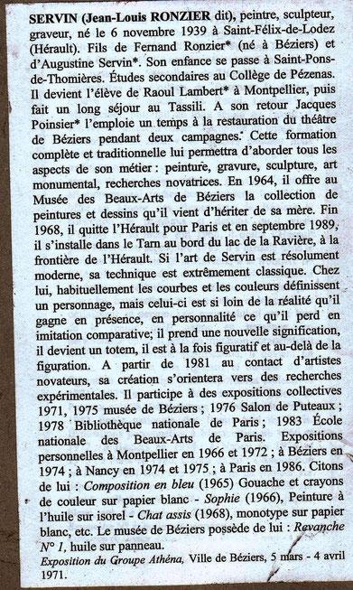 notice de SERVIN dans le Dictionnaire de biographie héraultaise