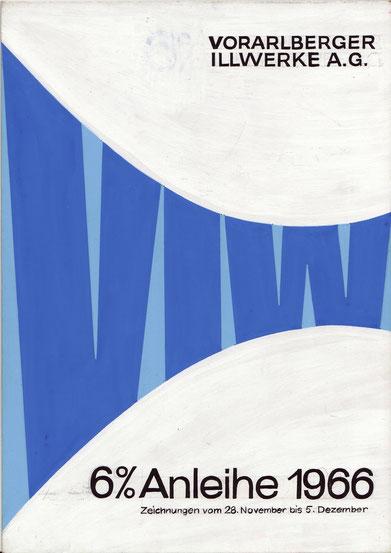 bond austria vorarlberger illwerke 1966 draft poster heinz traimer