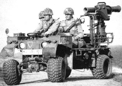 Panzerabwehrtrupp des FJgBtl 272 mit Kraka und Rüstsatz Milan (Foto Archiv der Bundeswehr)