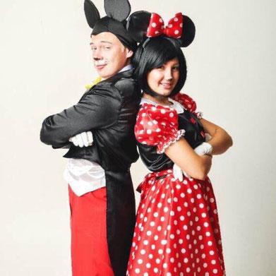 Аниматоры Микки и Минни Маус на детский праздник и день рождения ребенка