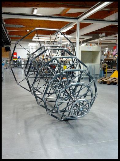 Structure métallique de la sculpture sur mesure