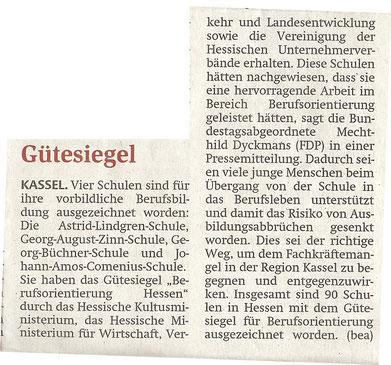 Quelle: HNA 24.09.2011 (www.hna.de)