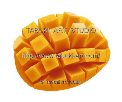 RD1272 マンゴー イラスト mango トロピカルフルーツ 果物