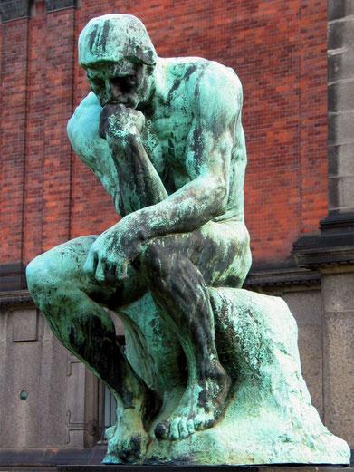 """A. Rodin, """"Il pensatore"""""""