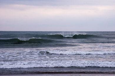 二日目は面もキレイになりましたが、寄れた感じで難しい波でした