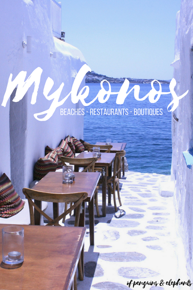 Mykonos Greece of penguins & elephants Pinterest Island Guide Mykonos: Beaches Restaurants Boutiques
